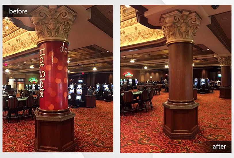 architectural finishes in a casino