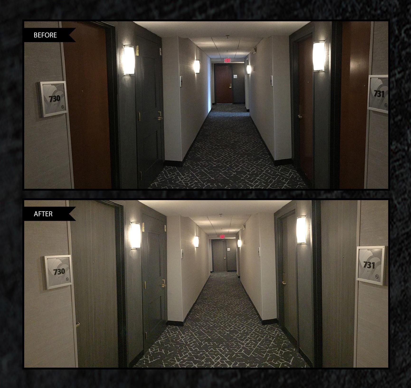 hotel door refinishing